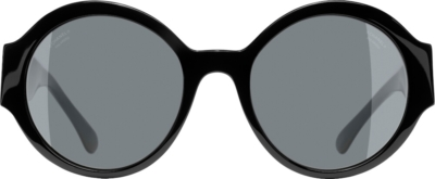 Chanel Black Round Sunglasses 5410 C888