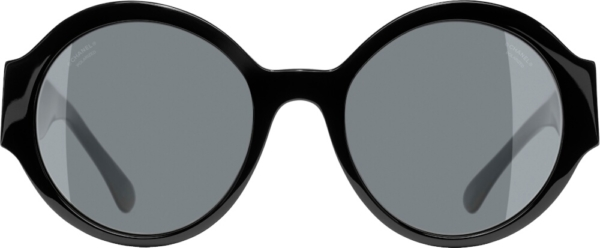 Chanel Black Round Sunglasses 5410 C888