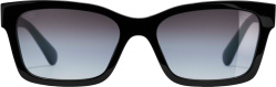 Chanel Black Square Gradient Sunglasses