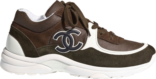 Chanel Brown Suede Sneakers
