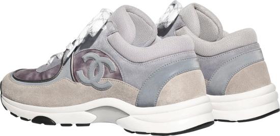 Chanel Dark Grey Suede & Velvet Sneakers