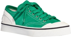 Chanel Green Suede Sneakers