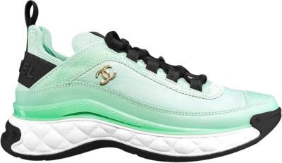 Chanel Light Blue Velvet Suede Ss20 Sneakers