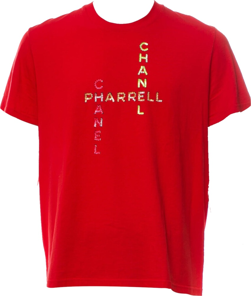 Crystal Logo Embellished Red Shirt