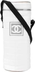 Chanel White Quilted Nylon Chalk Bag
