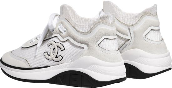 Chanel White Sock Sneakers