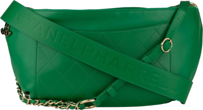 Chanel X Pharrell Green Leather Bag