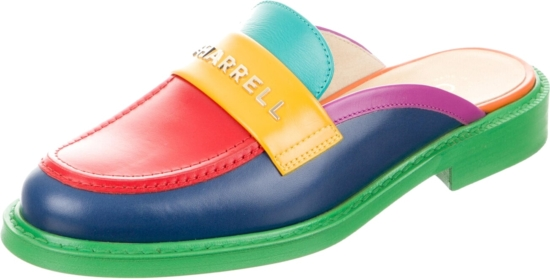 Chanel X Pharrell Multicolor Leather Mules