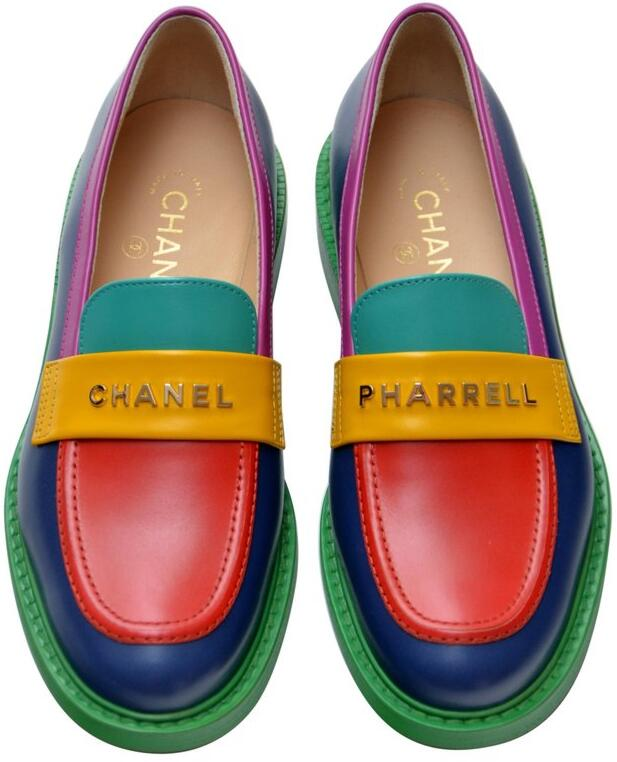 Chanel X Pharrell Multicolor Loafers