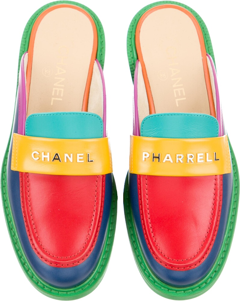 Chanel X Pharrell Multicolor Mules