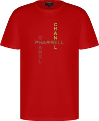 Chanel X Pharrell Red Embellished T Shirt