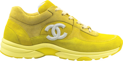 Chanel Yellow Suede Sneakers