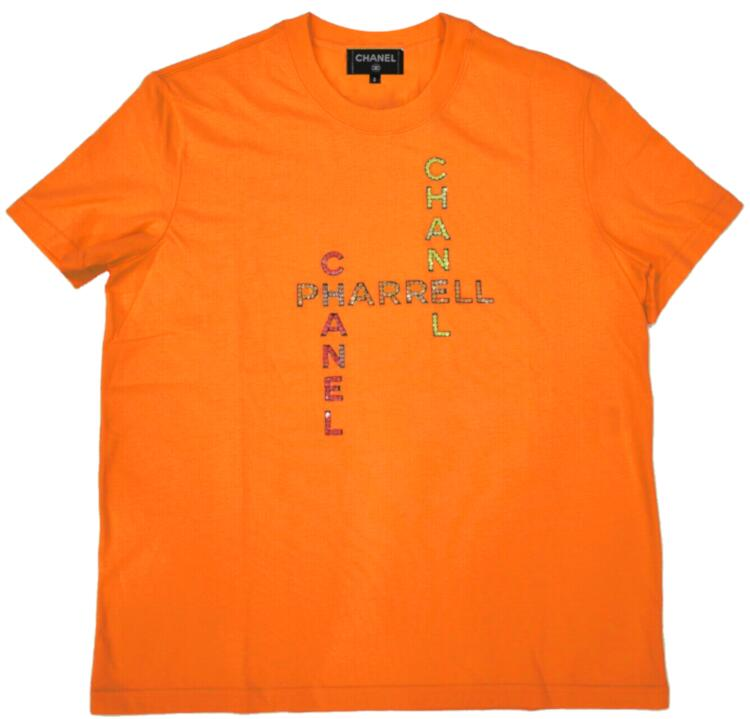 Channel Pharrell Orange Crystal Logo Shirt