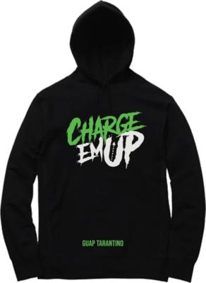 Charge Em Up Logo Print Sweatshirt