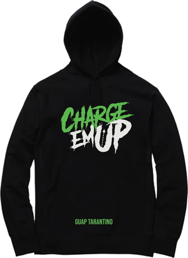 Charge Em Up Logo Print Sweatshirt