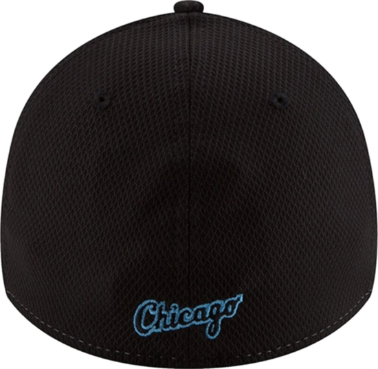 Chicago White Sox White Black And Light Blue 39thirty Hat