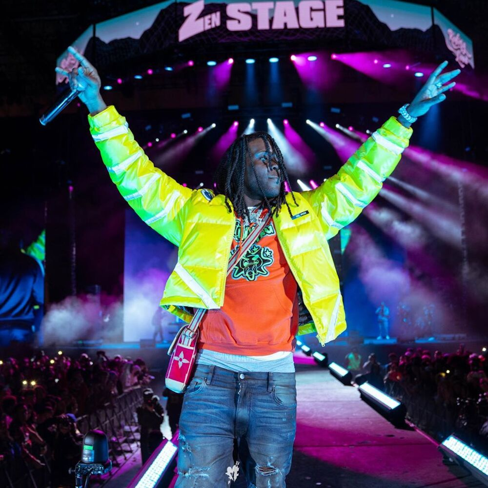 Chief Keef Performs At Rolling Loud In An Undercover Jacket Jordans And Glo Gang Hoodie