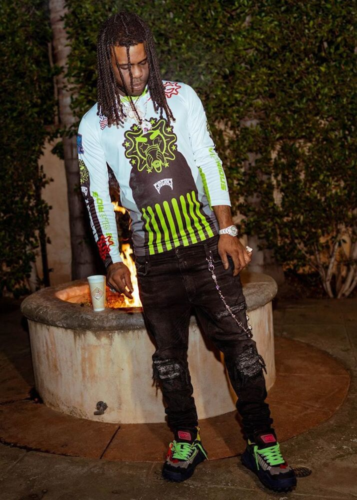 Chief Keef Shows Off Glogang Merch In Amiri Jeans And Off White Odsy Sneakers