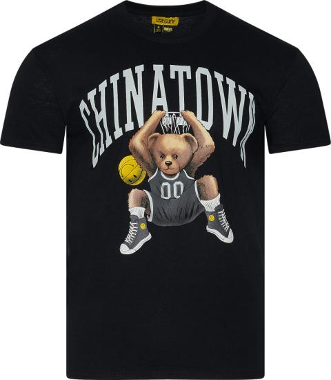 Chinatown Market Black Dunking Teddy Bear T Shirt