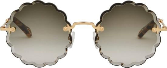 Chloe Rosie Petite Flower Sunglasses