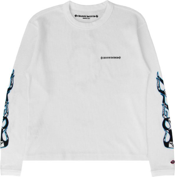Chomre Hearts White Waffle Knit Sinister T Shirt