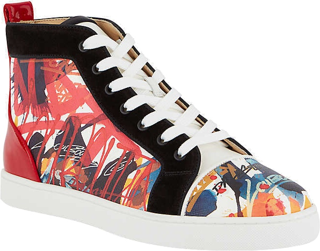 Christian Louboutin Louis Flat Serig High Top Sneakers