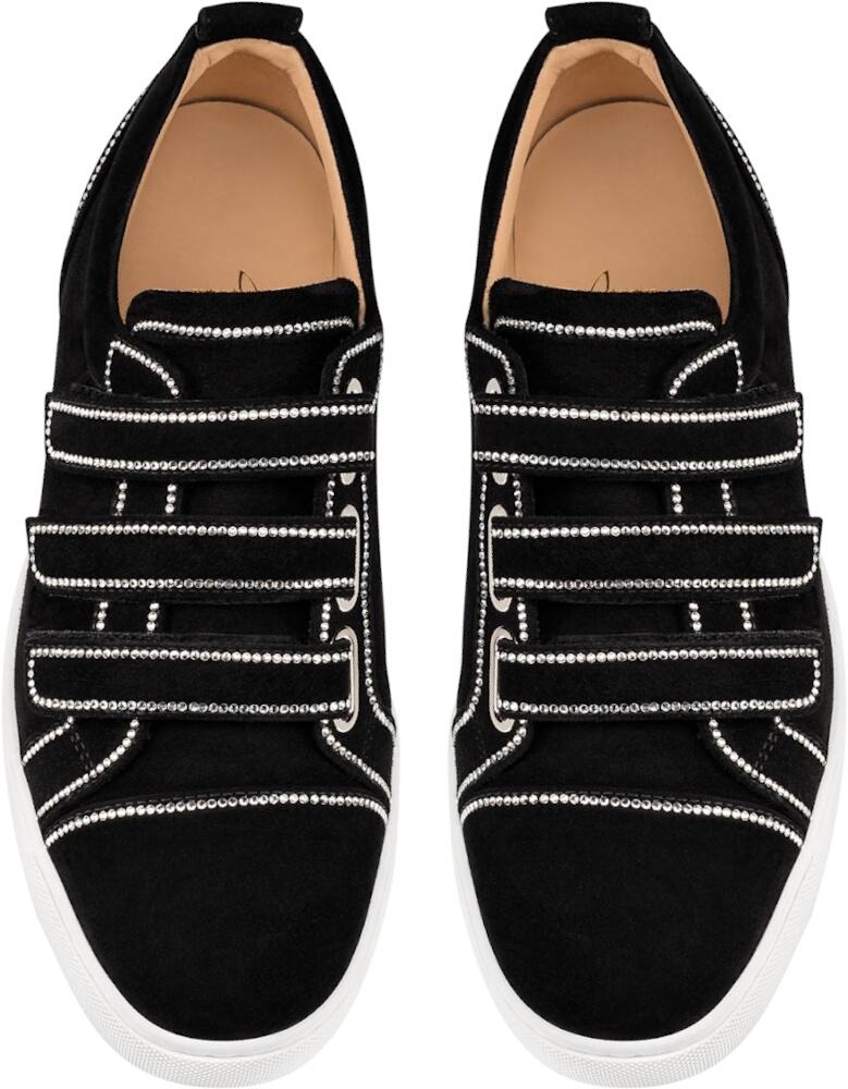 Christian Louboutin Black Kiddo Bordo Donna Sneakers