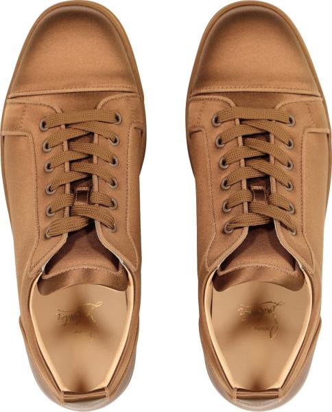 Christian Louboutin Brown Louis Junior Orlato Sneakers Satin