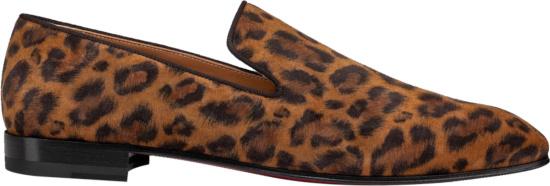 Christian Louboutin Leopard Print Dandellion Suede Flats