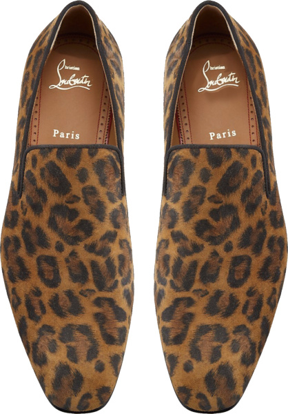 Christian Louboutin Leopard Print Loafers