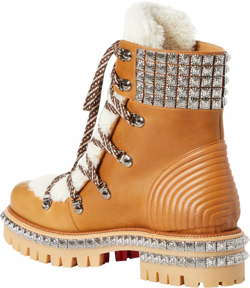 Christian Louboutin Tan Studded Boots