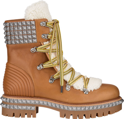 Christian Louboutin Tan Yeti Boots