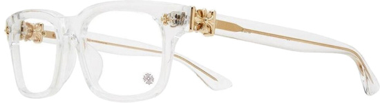 Chrom Hearts Clear And Gold Glasses