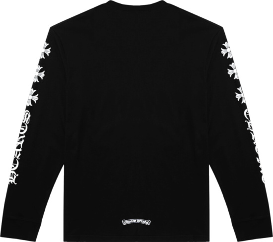 Chrome Hearts Plus Cross Long Sleeve T Shirt Black