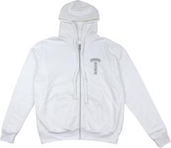 Chrome Hearts T Logo White Zip Hoodie