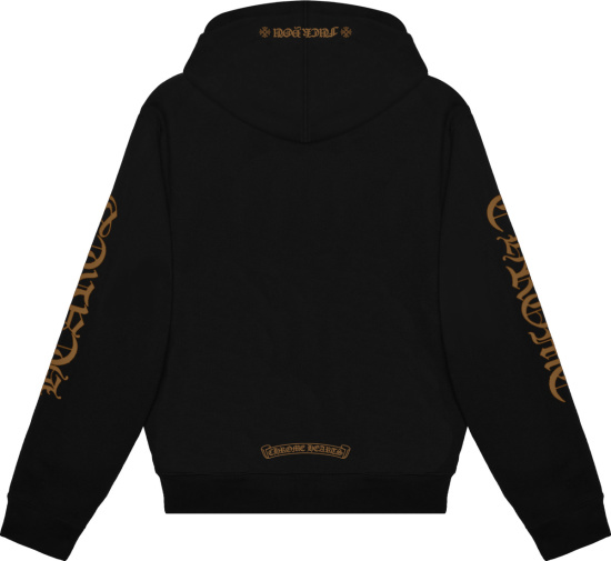 Chrome Hearts Black And Brown Fuck You Hoodie