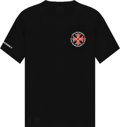 Chrome Hearts Black And Red Cross Pocket T Shirt