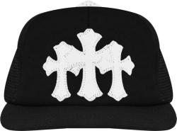Chrome Hearts Black Cemetary Cross Trucker Hat