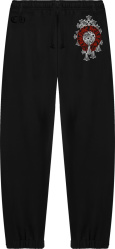 Chrome Hearts Black Cemetery Cross Sweatpants