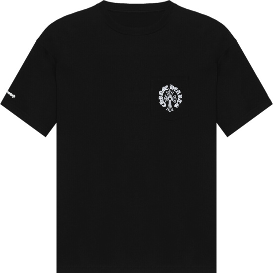Chrome Hearts Black Cross Pocket T Shirt