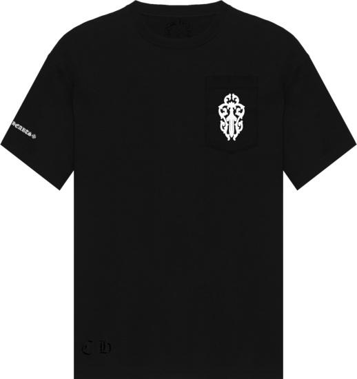 Chrome Hearts Black Dagger Pocket T Shirt