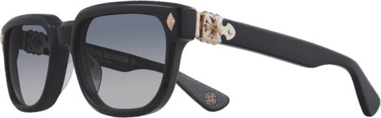 Chrome Hearts Black & Gold Sitonit Sunglasses
