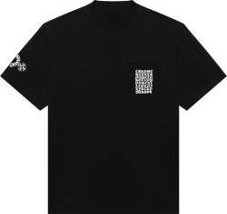 Chrome Hearts Black Grid Logo Pocket T Shirt