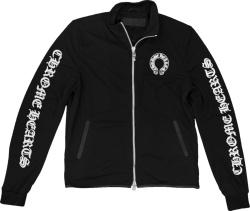 Chrome Hearts Black Logo Print Track Jacket