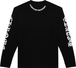 Chrome Hearts Black Long Sleeve Collar Logo T Shirt