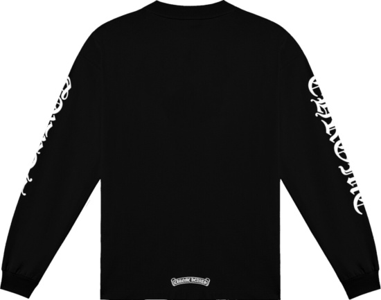Chrome Hearts Black Long Sleeve Logo Print T Shirt