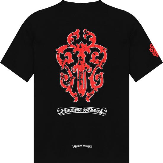 Chrome Hearts Black Red Dagger T Shirt.jpg