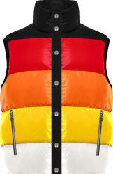 Chrome Hearts Black Red Orange Yellow White Striped Vest