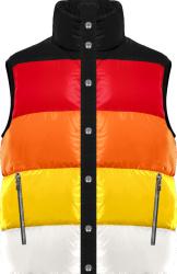 Red, Orange, & Yellow Striped Vest