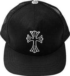 Chrome Hearts Black Waxed Cross Logo Trucker Hat.jpg